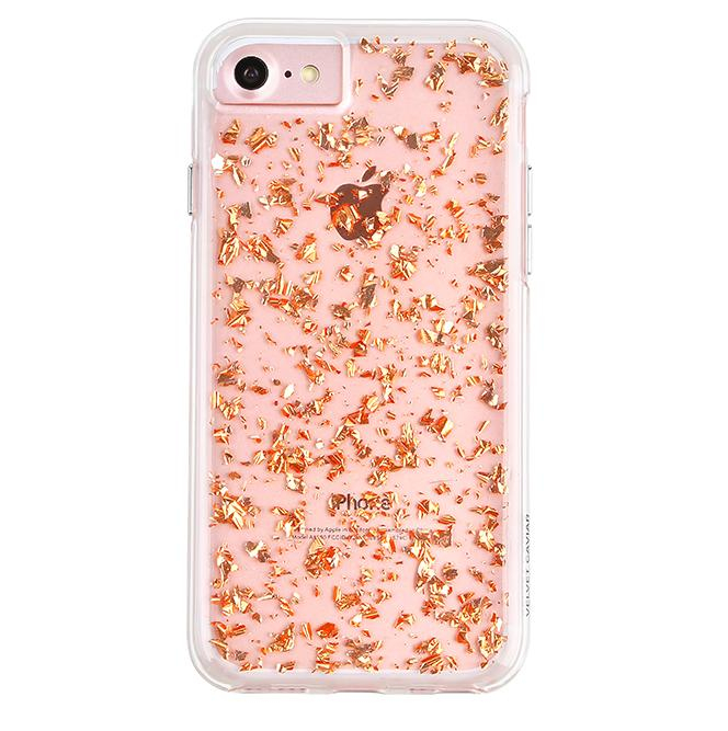 Image of Rose Gold Flakes Dual iPhone Case