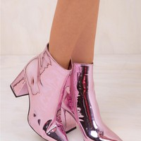Therapy Pink Alloy Boots