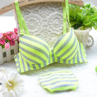 Stripes Bra and Panties Set, All Sizes