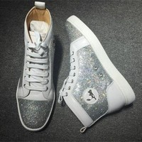 DCCK2 Cl Christian Louboutin Rhinestone Style #2103 Sneakers Fashion Shoes