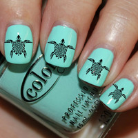 Tribal Turtles Nail Decals 24 Ct.