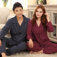 Couples pyjamas long-sleeved cotton men sleepwear large size pajama spring and autumn clothing home cute plaid lovely pajamas