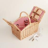 Summer Weekend Willow Picnic Basket for Two