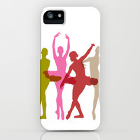 Colorful Dancing Ballerinas iPhone & iPod Case by PeculiarDesign