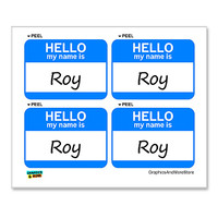 Roy Hello My Name Is - Sheet of 4 Stickers