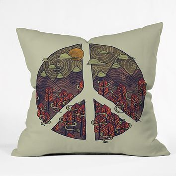 Hector Mansilla Peaceful Landscape Outdoor Throw Pillow