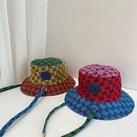 GG men's and women's double G letter fisherman hat