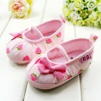 Designer Baby Pink Newborn Kids Shoes for Young Indian Infants and Toddlers