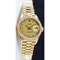 ROLEX 18kt gold fashion women watches wristwatch Golden