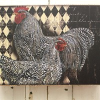 Rustic Rooster Wall Decor for your country kitchen
