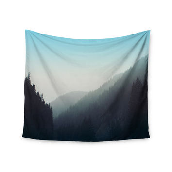 """Leah Flores """"Wilderness"""" Mountain Range Wall Tapestry"""