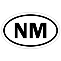 New Mexico - NM - oval sticker and more by welikestuff