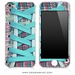 Blue Laced Shoe 2 iPhone Skin