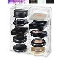 Acrylic Palette Organizer (Small Sized Palettes) & Beauty Care Holder Provides 8+ Space Storage | byAlegory (Clear) Makeup Organizer