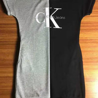 Calvin Klein Jeans Simple Fashion Casual Short sleeve Dress