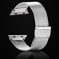 Stainless Steel Watch Band For Apple Watch Band 42mm Wrist Watch Bracelet Buckle Clasp Metal Watch Strap For Apple iPhone iWatch Band