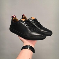 Bally Hendrik Men's Perforated Calf Leather Trainer In Black Sneakers Shoes
