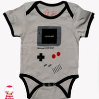 gamebaby - grey Onesuit - short sleeves