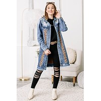 When In The West Denim Duster Jacket