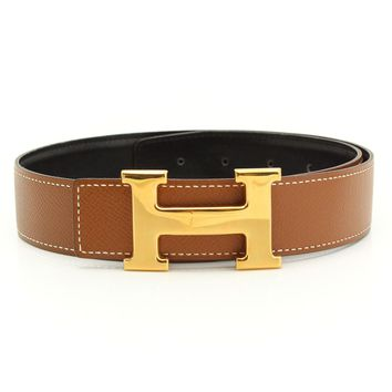 AUTHENTIC HERMES CONSTANCE H BELT BLACK BROWN Y 65 GRADE A USED-AT