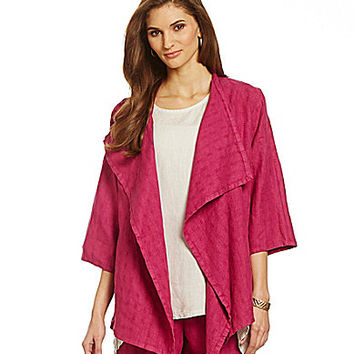 Bryn Walker Marie Draped Linen Jacket - Havana