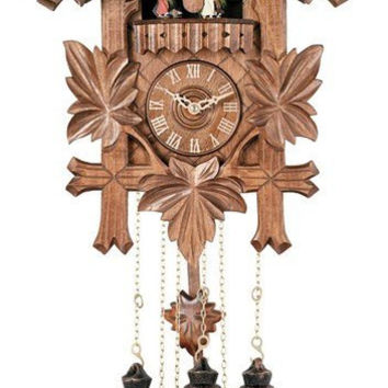 5 Hand-carved Birds, Dancers, Maple Leaves 8 Day Musical Cuckoo Clock