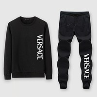 Versace Fashion Casual Top Sweater Pullover Pants Trousers Set Two-Piece
