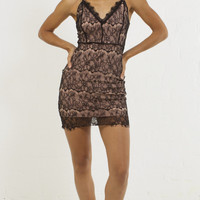 Delicate Lace Cami Fitted Dress