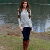 Casual Cross Front Sweater