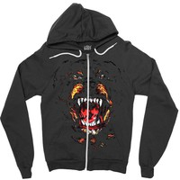 givenchy dog Zipper Hoodie