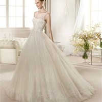 White Ball  Lace Tulle 2013 Wedding Dress IWD0175 -Shop offer 2013 wedding dresses,prom dresses,party dresses for girls on sale. #Category#