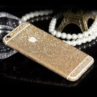 Luxury Scrub Bling Sticker Phone Case Ultrathin Glitter Decal Cover Carcasa Pink Coque Fundas Capa Para For Apple iPhone 6s 6