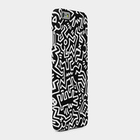 Keith Haring Chaos iPhone 6 Case, Black & White | MoMA