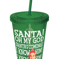 DC Comics Elf the Movie Plastic Cup with Straw
