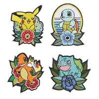 Loungefly Pokémon Starters Iron-On Patch Set