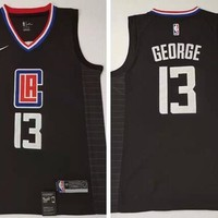 Nike Los Angeles Clippers #13 Paul George Basketball Jersey Black