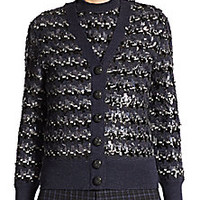 Marc Jacobs - Sequin Wool Jacquard Cardigan - Saks Fifth Avenue Mobile