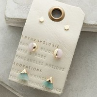 Futurist Earrings Set by Anthropologie in Gold Size: One Size Earrings