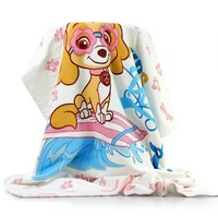 Genuine Paw Patrol Children's bath towel Baby cartoon Comfortable Pure cotton towel 140*70cm chase skye rubble kids toy gift
