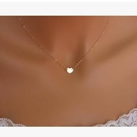 small accessories heart necklace short design chain gold necklaces & pendants = 5987841537