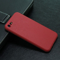 Luxury Soft Red Leather Phone Case For iPhone 7 7Plus 6 6s Plus 5 5s SE