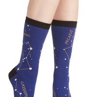 Cosmic Stellar Combination Socks by ModCloth
