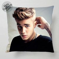 Justin Bieber pillow case, cover ( 1 or 2 Side Print With Size 16, 18, 20, 26, 30, 36 inch )