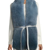 Loro Piana Corvatsch Fox Fur Scarf