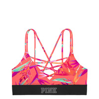 Ultimate Unlined Strappy Sports Bra - PINK - Victoria's Secret