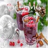 Cranberry N' Spice Natural Hand Poured Soy Candles