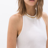 DRESS WITH CHAIN COLLAR