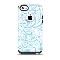 Light Blue Droplet Sprout Pattern Skin for the iPhone 5c OtterBox Commuter Case