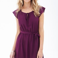 Belted Lace Insert Dress | Forever 21 - 2000060792