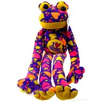 Peace and Love Frog I Love Haters Multi-Color Hanging Plush Embroidered